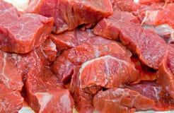 Frisches natürliches Fleisch der Nahaufnahme zum Hintergrund Lizenzfreies Stockfoto