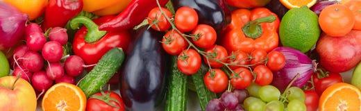 Frisches Obst und Gemüse Lizenzfreies Stockfoto