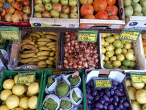 Frisches Obst und Gemüse Chania Kreta Griechenland Lizenzfreies Stockbild