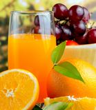 Frisches orange Juice Indicates Healthy Eating And-Getränk stockfoto