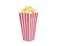 Frisches Popcorn ohne den Text-Behälter getrennt Lizenzfreie Stockfotografie