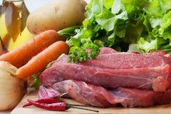 Frisches rohes Rindfleisch Stockfoto
