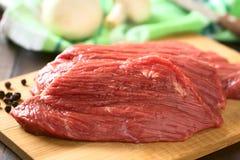 Frisches rohes Rindfleischfleisch Stockfotos