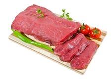 Frisches rohes Rindfleischsteak Stockbild