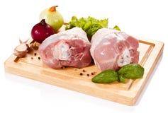 Frisches rohes Schweinefleisch Stockbilder