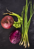 Frisches saftiges Gemüse Stockbilder