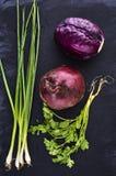 Frisches saftiges Gemüse Stockbild