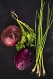 Frisches saftiges Gemüse Stockfotografie