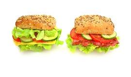 Frisches Sandwich mit Gemüse Stockfoto