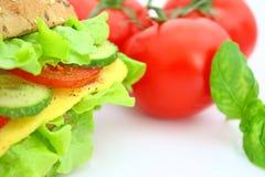 Frisches Sandwich mit Käse und Gemüse Lizenzfreie Stockfotografie