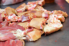 Frisches Schweinefleisch im Markt Lizenzfreies Stockbild