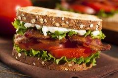 Frisches selbst gemachtes BLT-Sandwich Stockfoto