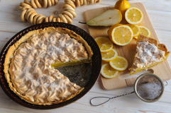 Frisches selbst gemachtes Zitronentörtchen Lizenzfreies Stockbild