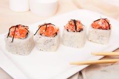 Frisches und köstliches maki Lizenzfreie Stockfotos