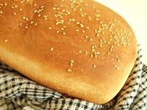 Frisches weißes Brot stockbild