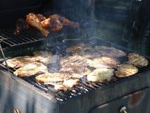 Frischfleisch auf Grill Lizenzfreies Stockbild