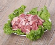 Frischfleisch und Gemüse Stockfoto