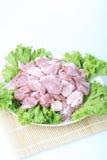 Frischfleisch und grünes Gemüse Lizenzfreies Stockbild