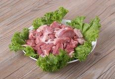 Frischfleisch und grünes Gemüse Lizenzfreie Stockfotografie