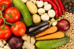 Frischgemüse auf hölzernem Hintergrund Die Ikone für gesunde Ernährung, Diäten, Gewichtsverlust Stockbilder