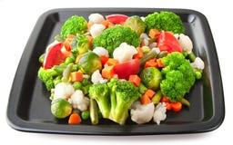 Frischgemüse auf plate#2 Stockfoto