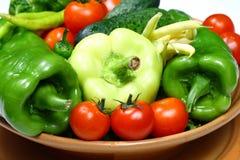 Frischgemüse für einen guten Salat Lizenzfreie Stockfotos