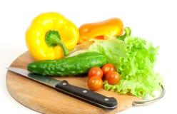 Frischgemüse für Salat Stockfotografie