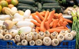 Frischgemüse im Markt Lizenzfreies Stockbild