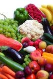 Frischgemüse und Früchte Stockbild