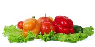Frischgemüse und Früchte Lizenzfreies Stockfoto