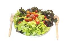 Frischgemüsemischsalat lokalisiert lizenzfreies stockbild