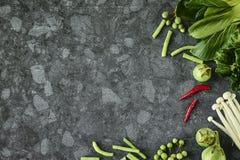 Frischgemüsestrenger vegetarier Lizenzfreies Stockfoto