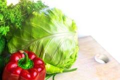Frischgem?se f?r Salat lizenzfreies stockfoto