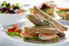 Frischkäse-Sandwich Lizenzfreie Stockfotografie