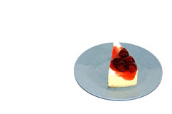 Frischkäse-Torte Cheerry Lizenzfreie Stockbilder