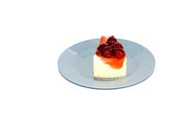 Frischkäse-Torte Cheerry Lizenzfreie Stockfotos