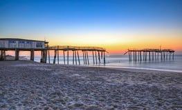 Frisco Carolina Fishing Pier norte Foto de Stock
