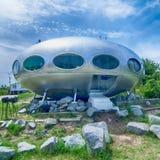 Frisco, NC 9 de agosto: casa producida en serie de Futuro El Futuro es Fotos de archivo libres de regalías