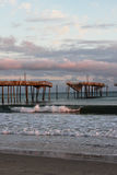 Frisco NC Fishing Pier National Seashore Stock Photography