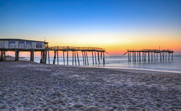 Frisco norr Carolina Fishing Pier Arkivfoto