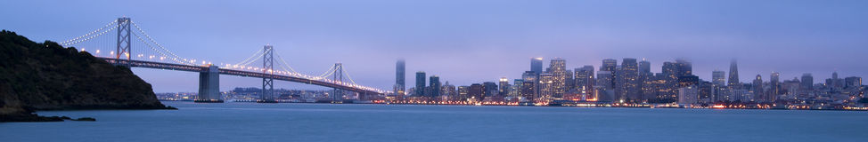 San Francisco City Morning Panoramic Buildings Bay Royalty Free Stock Photo