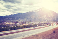 Frisco seen from interstate highway 70, Colorado, USA. Royalty Free Stock Photos
