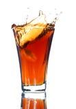 Frisdrank met een plons stock afbeeldingen