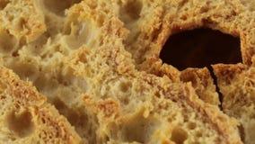 Friselle van droog brood stock videobeelden