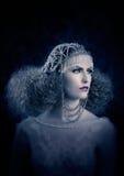 Frisering- och makeupmodekvinna Royaltyfri Foto
