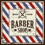 FrisersalongBarber Shop Sign Signage vektor vektor illustrationer