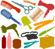 Friseur_set Royalty Free Stock Image