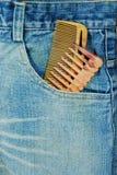 Friseurbaumwollstoff mit Kamm zwei Lizenzfreie Stockbilder
