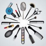 Friseurs- und Make-upwerkzeuge Lizenzfreie Stockfotografie