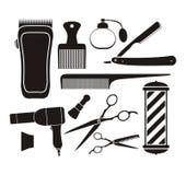 Friseursalonausrüstung - Piktogramm Lizenzfreie Stockfotos